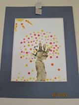 Arte de arbol del otoño / Fall Tree Handprint Art