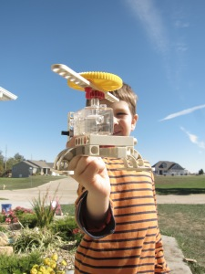 Solar powered helicopter model