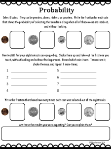 Coins and Probability Worksheet