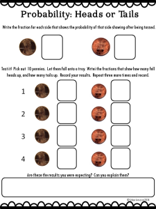 Coins and Probability Printable