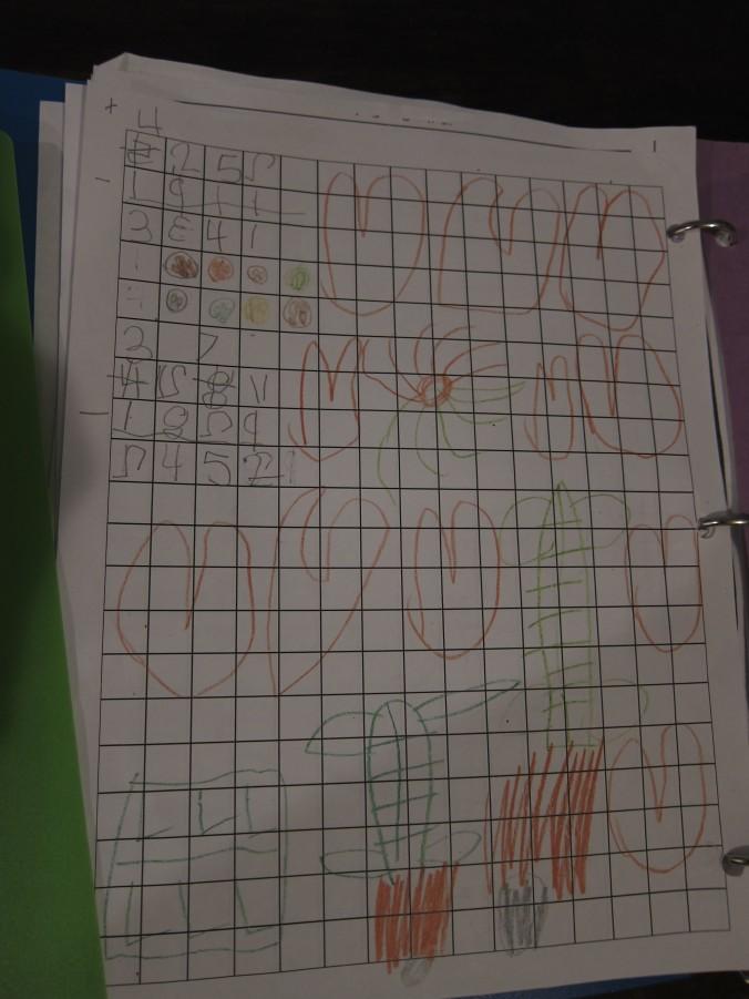Embellishing Montessori work