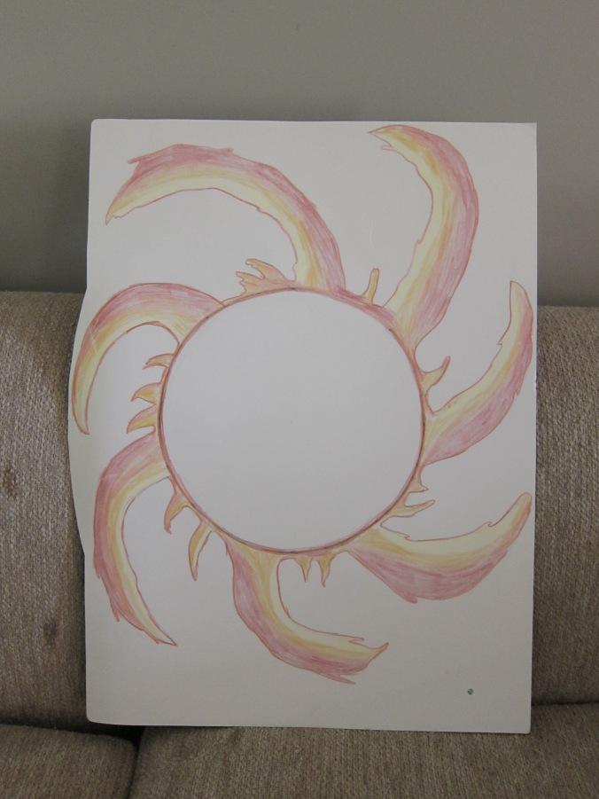 Cartelón 1A   Chart 1A Comparación del tamaño del sol con el de la Tierra (en la esquina derecha abajo) Comparison of the size of the sun with Earth (in the bottom right-hand corner)