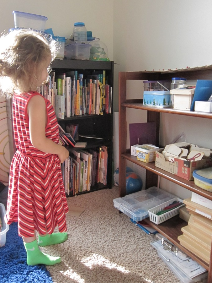 Child choosing Montessori work