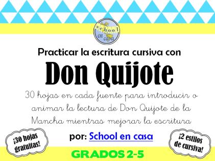 Don Quijote Escritura