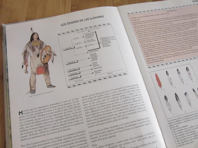 Sr. Científico leía de los indígenas de América del Norte, y pensaba en proyectos que podia hacer. Siempre tiene una idea nueva. :)