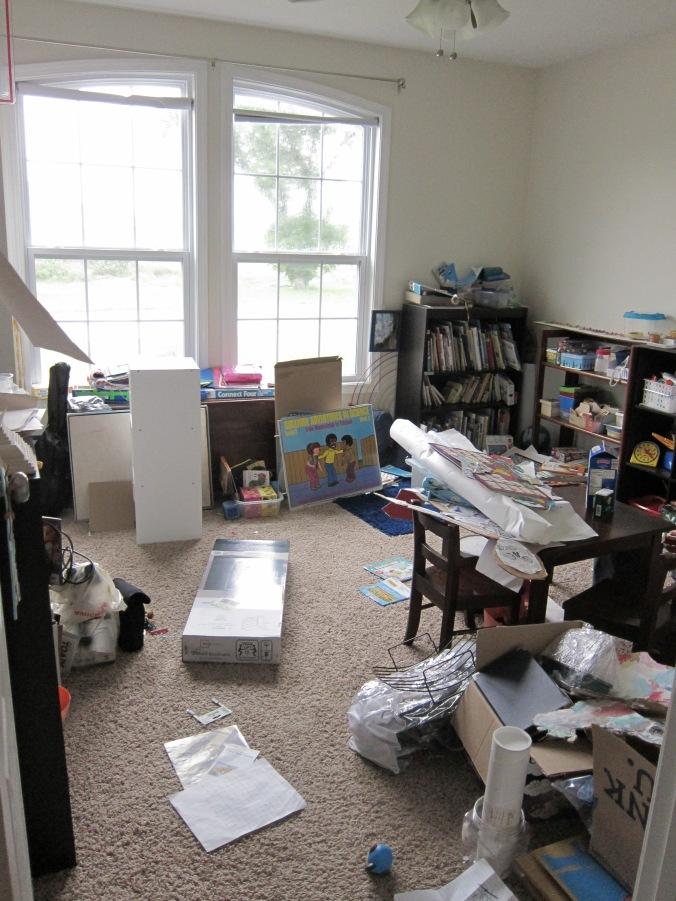Obviamente yo todavía no estoy lista para empezar; ¡me queda un poco por organizar en el aula!