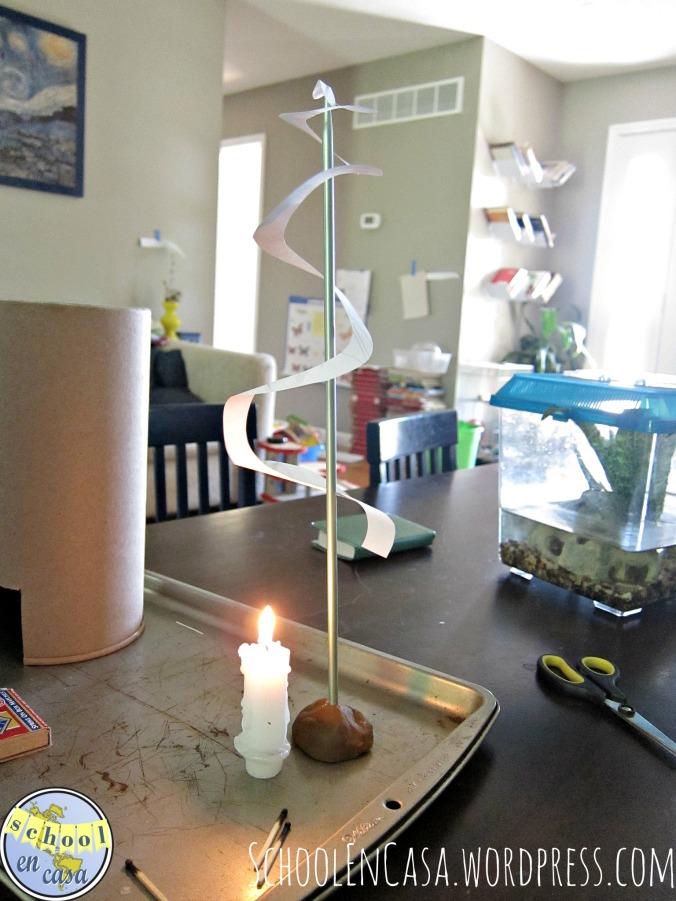 Trabajo de los vientos experimentos Montessori