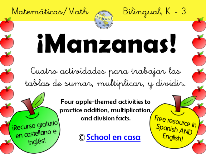 Manzanas Apples Math