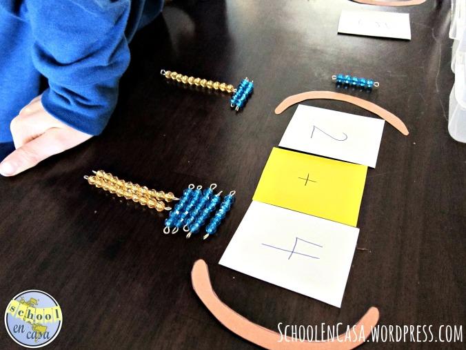 Propiedad Conmutativa: Presentación Montessori