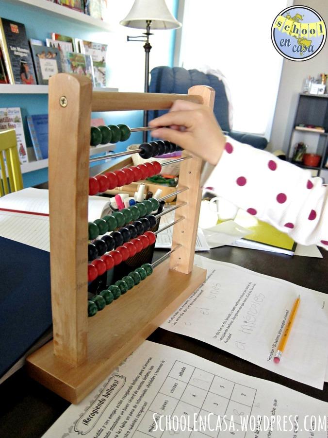 ábaco grande Montessori