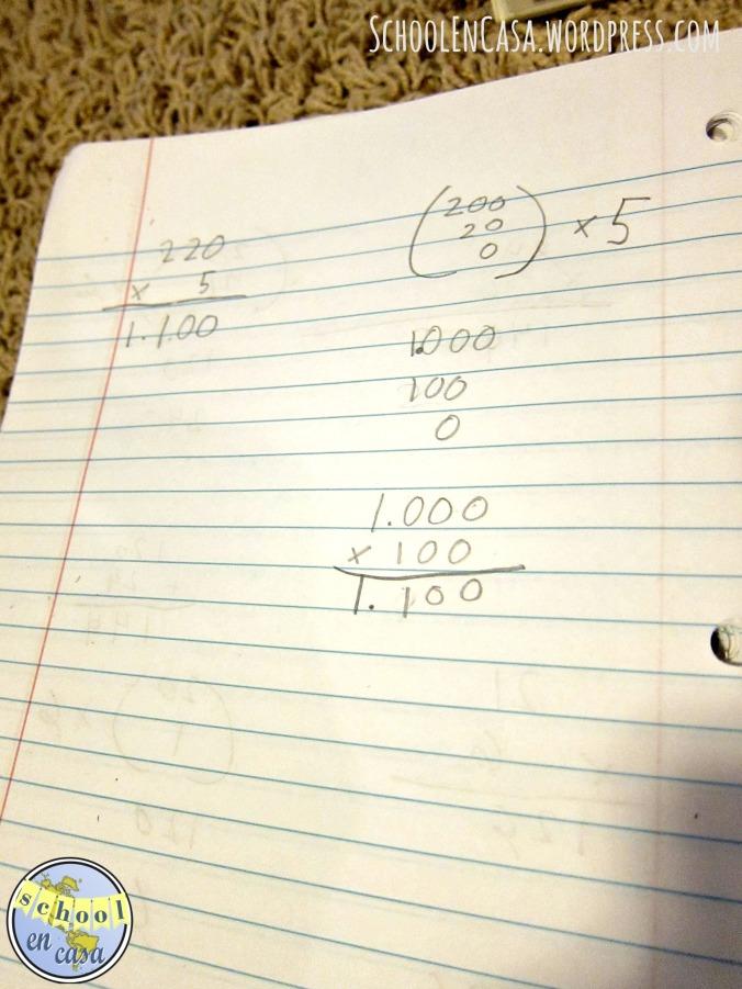Long Multiplication Montessori Method