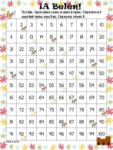 Hundred Chart Game: To Bethlehem Bilingual