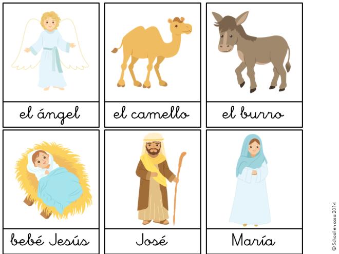 Cartas de vocabulario Navidad