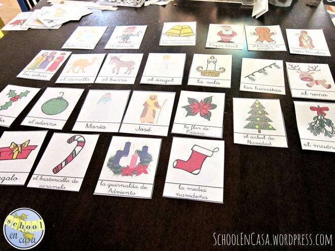 Cartas de vocabulario de Navidad