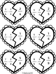 Heart Fractions Math Center