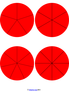 Montessori Fraction Circle Insets