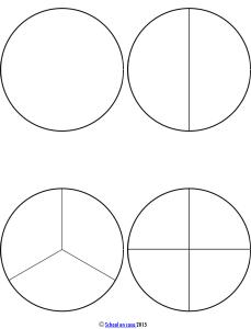Fracciones Montessori Circulos